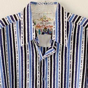 Robert Graham Shirts - Silk Road by Robert Graham blue white shirt SZ M